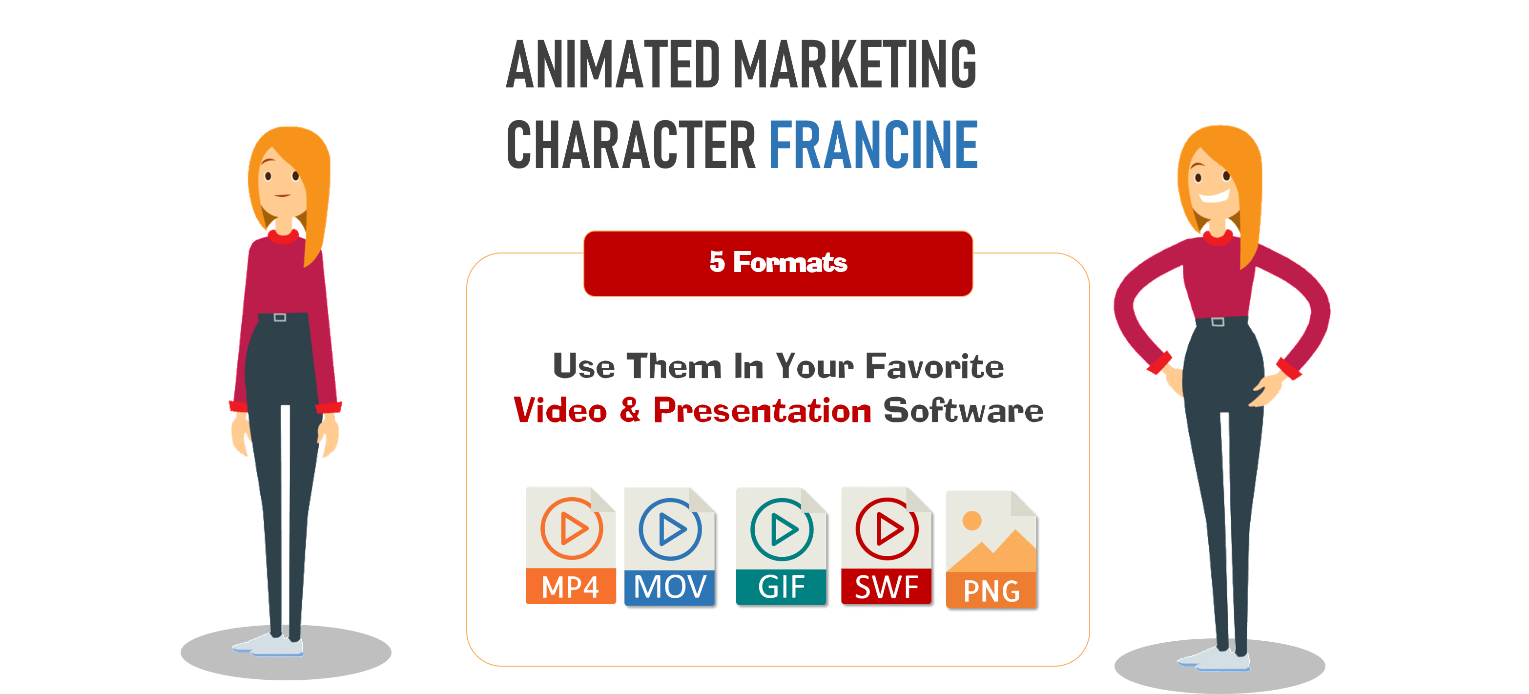 2D Marketing Character Francine