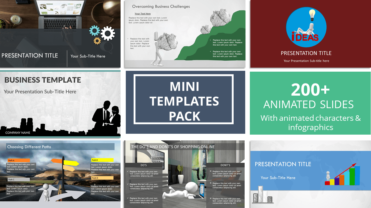 Mini templates pack animated premium powerpoint templates mini templates pack animated premium powerpoint templates infographic templates data driven ppt templates animated business templates toneelgroepblik Image collections